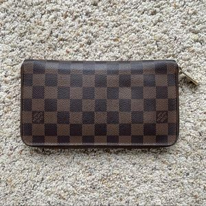 Louis Vuitton Damien XL organizer zippy wallet